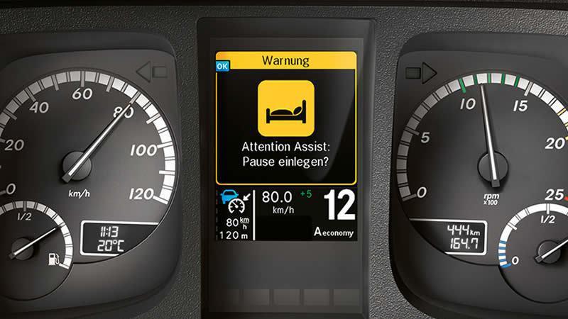 Attention Assist駕駛注意力輔助系統,減少駕駛因精神狀態不濟而發生...