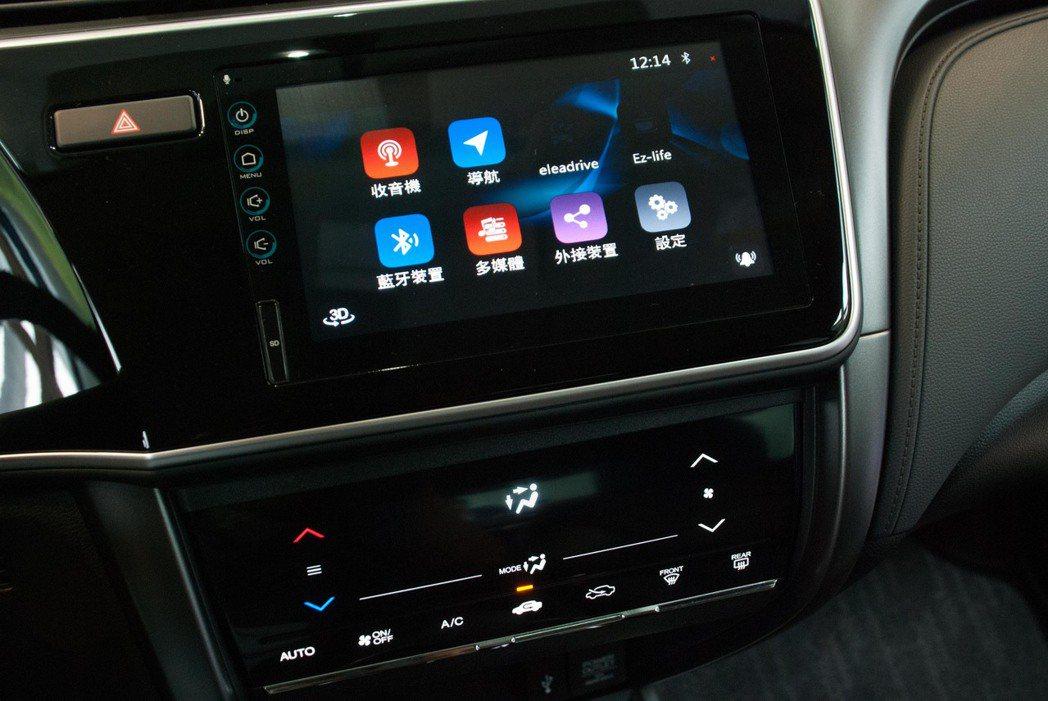 頂級的VTi-S車型擁有觸控式先端通訊音響系統。記者林昱丞/攝影