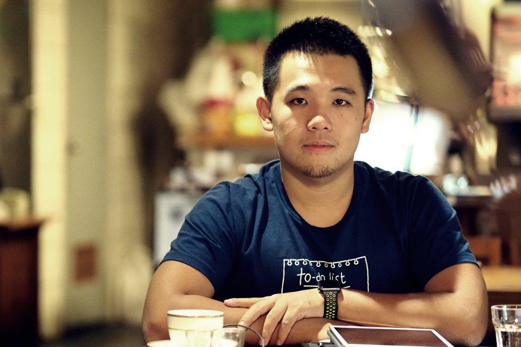 《法律白話文》站長楊貴智說自己是普通人,只是他的職業是法律工作。 攝影/許伯崧