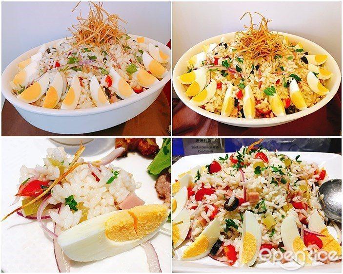▲「野菜米沙拉」使用醃黃瓜、檸檬汁,水果的酸甜滋味和鮪魚燉飯完美融合,非常爽口。