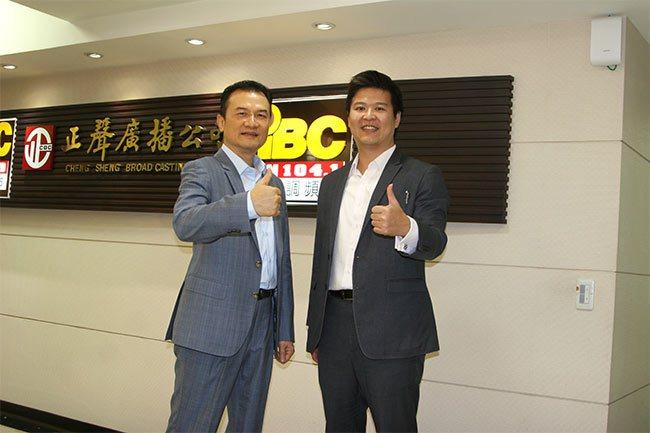 理財周刊發行人洪寶山(左)、徐培剛(右)