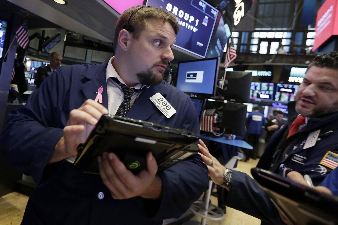 零售股和電信股下跌拖累美股大盤。(美聯社)