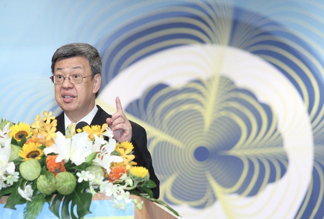 副總統陳建仁上午出席2017年失智症防護照護論壇。記者余承翰/攝影