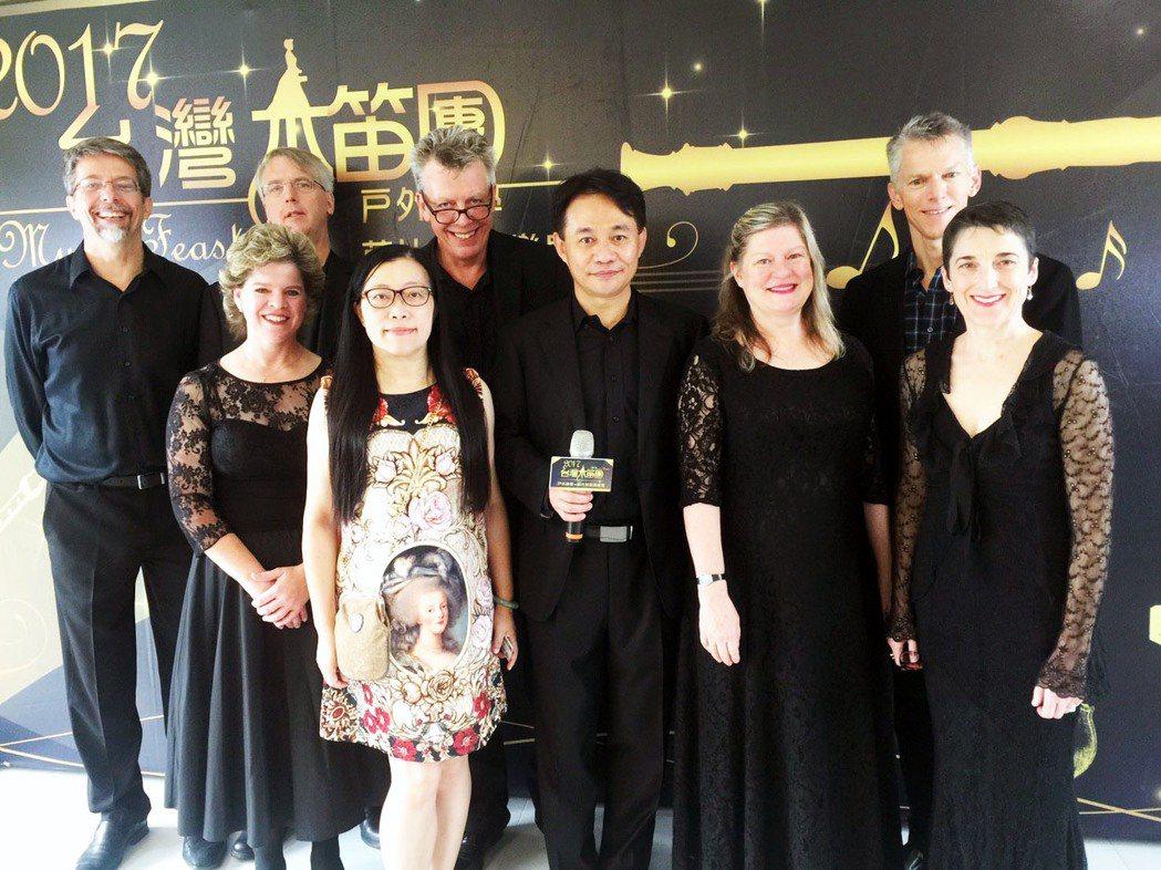 台灣木笛團邀請國外音樂家,將到偏鄉進行演奏及教學。記者郭宣彣/攝影