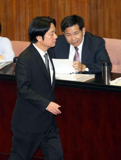 行政院長賴清德今天列席立法院總質詢。記者曾吉松/攝影