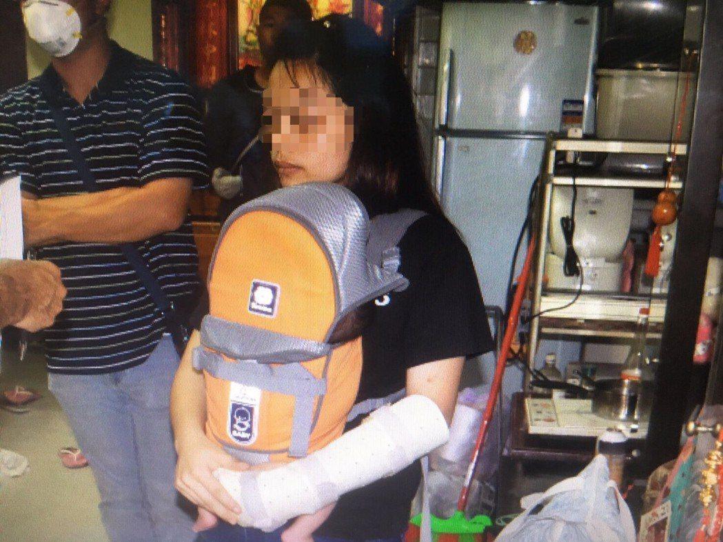 林女今天被警方再度通知說明,但林女說法仍反覆。記者劉星君/翻攝