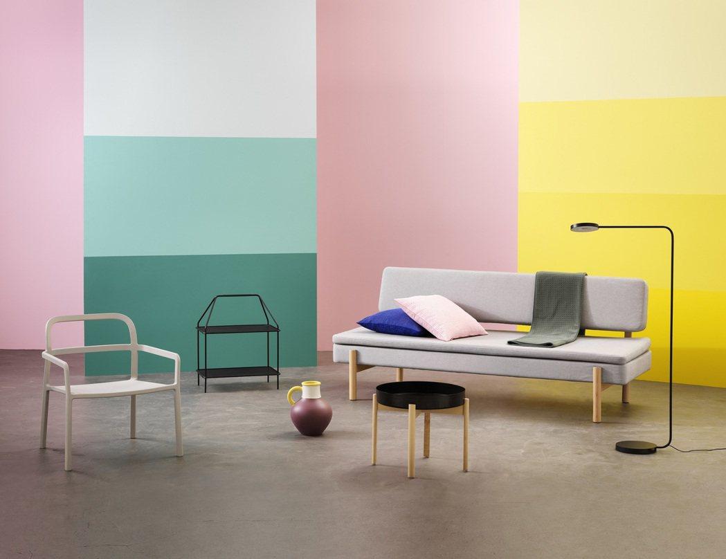 IKEA與丹麥設計公司HAY聯名合作系列YPPERLIG從10月開始陸續到店。圖...
