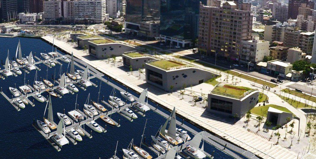 台灣港務公司將與高雄市政府合作,投入5億元打造全臺灣最大規模的遊艇碼頭專區。 圖...