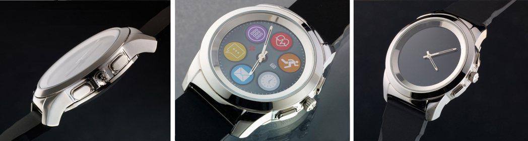 瑞士指針智慧表ZeTime結合機械指針與觸控螢幕。圖/MyKronoz提供