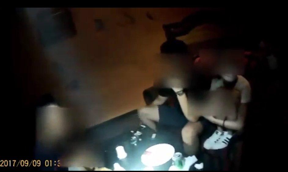 台北市警方查緝容留毒趴的旅館。記者廖炳棋/翻攝