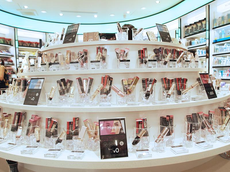 松本清beauty U新型態店鋪,提供各式化妝品供消費者試用。圖/轉載自松本清官...