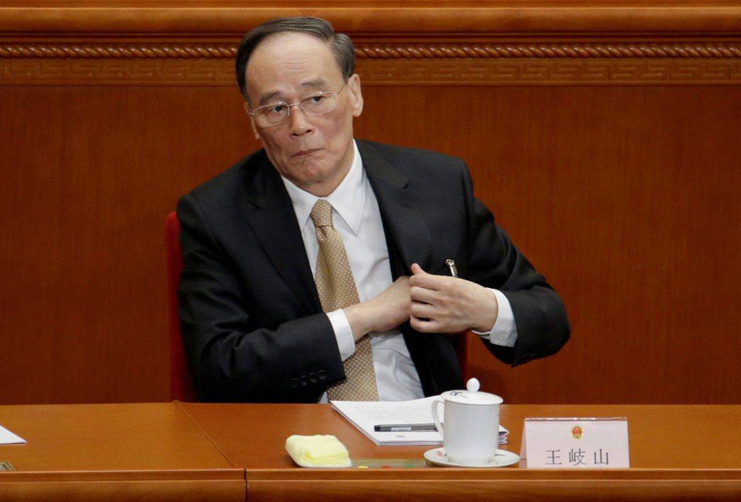 中共中央政治局常委、中紀委書記王岐山。(圖/路透)
