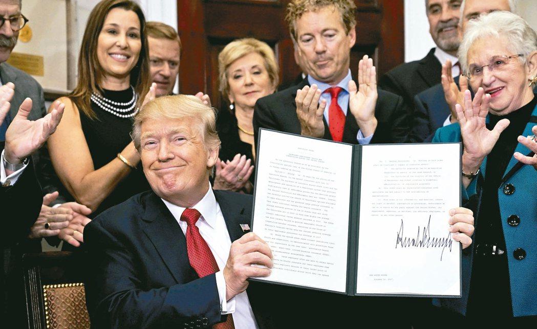 對內很愛簽 對外很愛退美國總統川普對內政愛發行政命令,對外事務則常退出協定或...