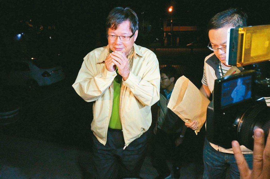 圖為慶富董事長陳慶男被檢方約談。 本報資料照片