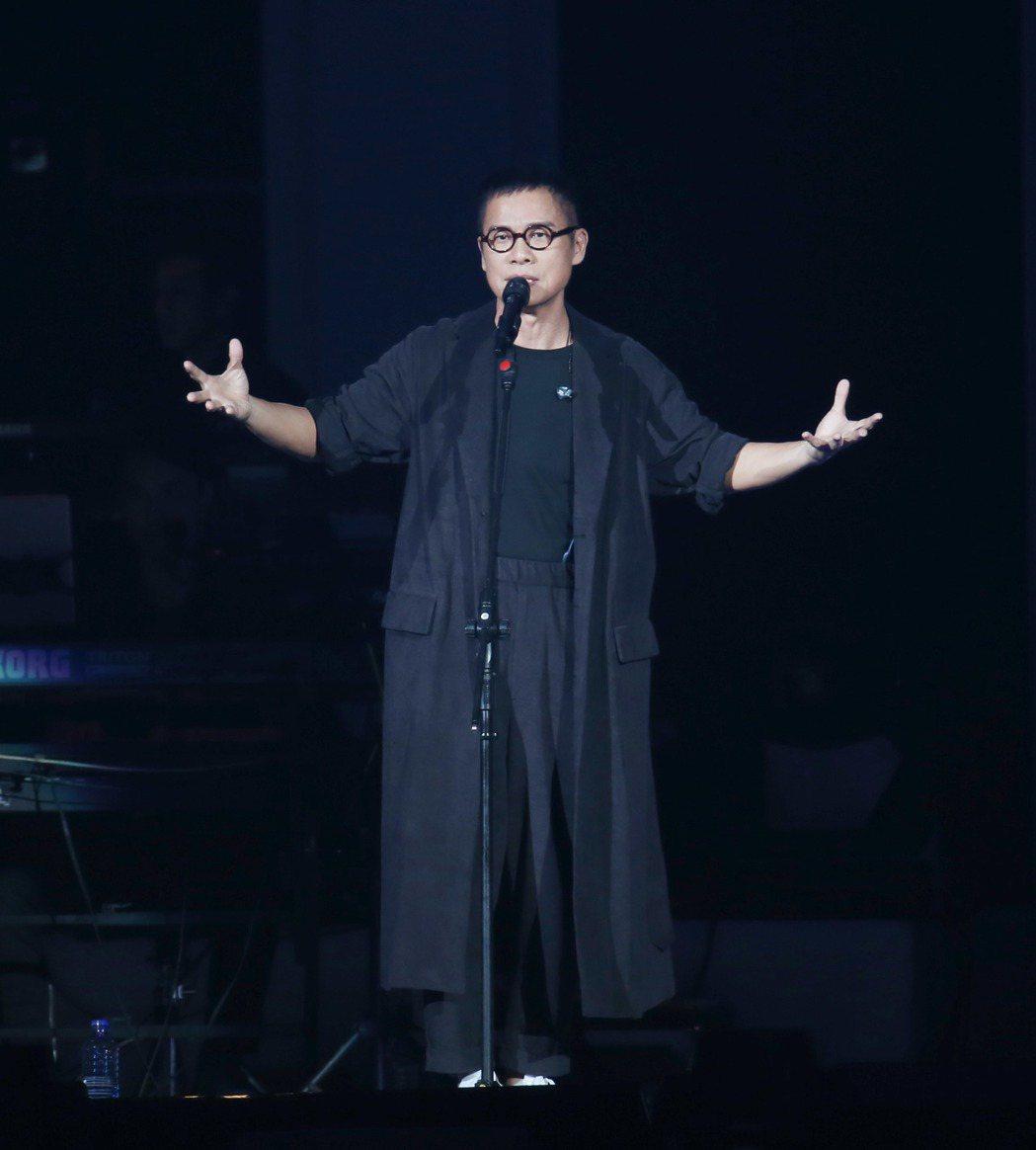 羅大佑在台北小巨蛋舉辦演唱會。記者陳瑞源/攝影