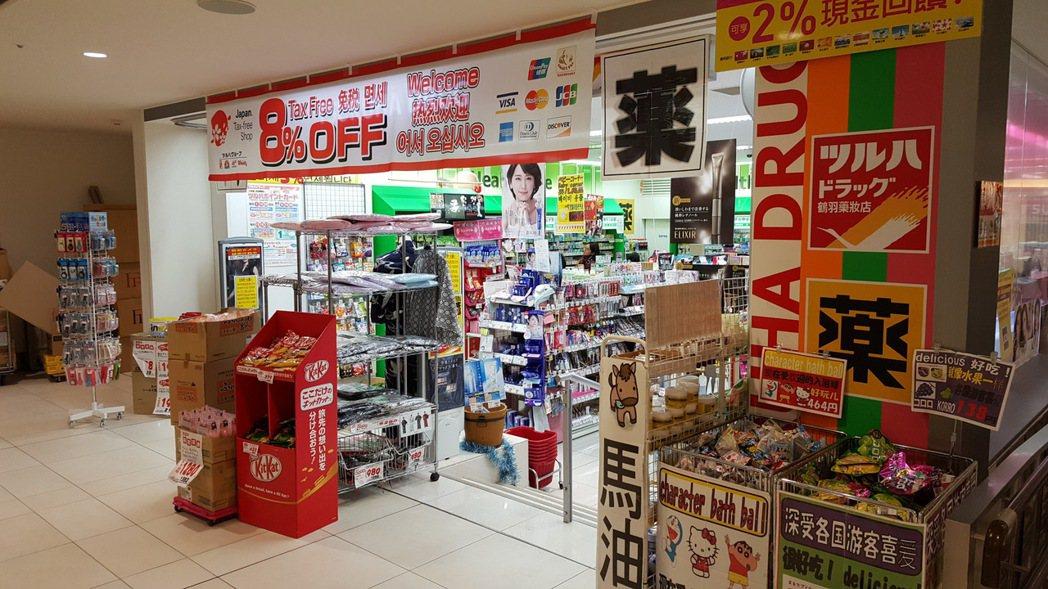 日本藥妝店。記者陳睿中/攝影