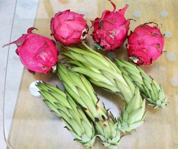 火(紅)龍果的花也可入菜。