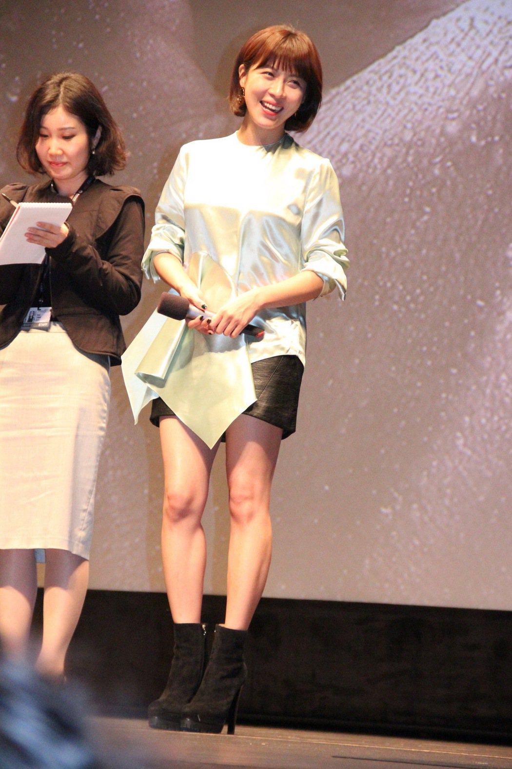 河智苑出席「追捕」釜山影展首映。圖/華映提供