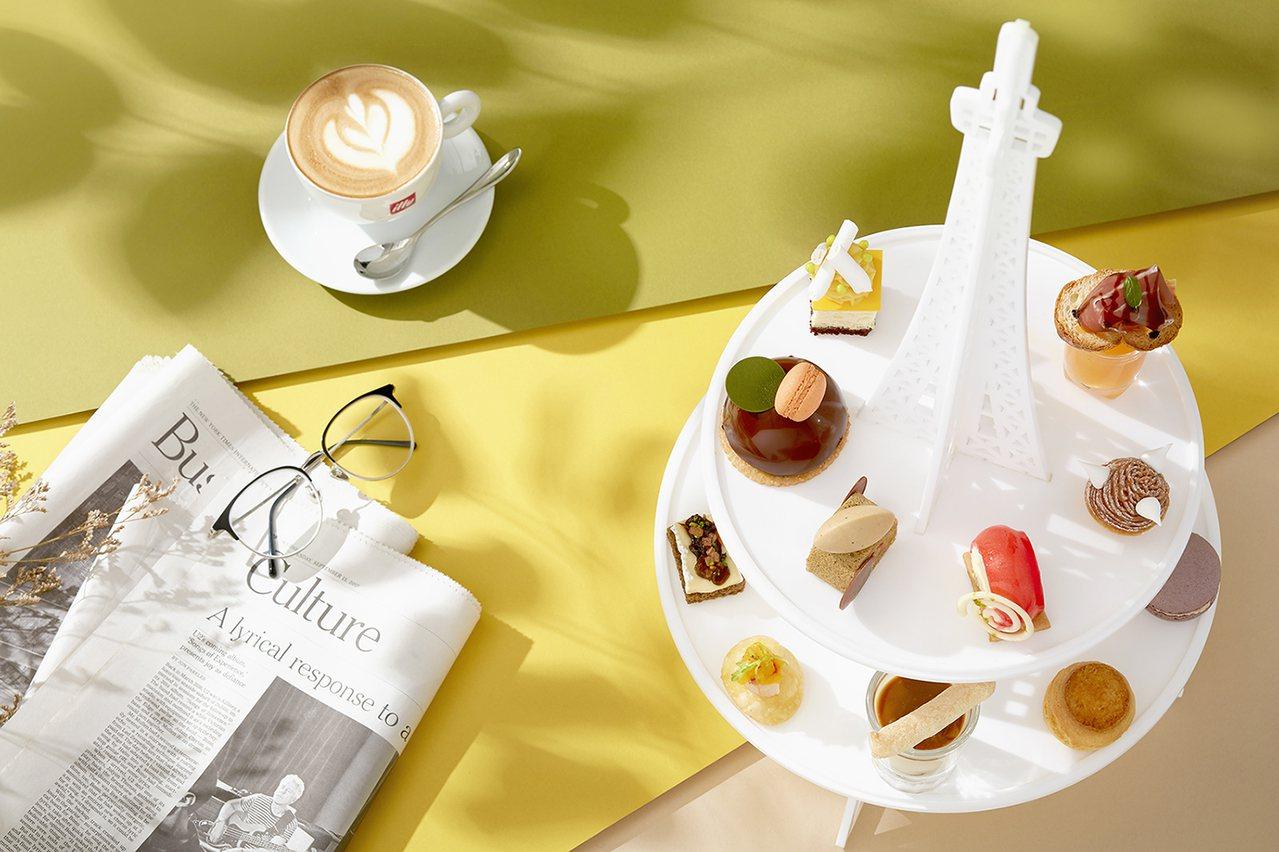 北緯25推出甜謐午后下午茶,每位780+10%元。圖/台北寒舍艾美酒店提供