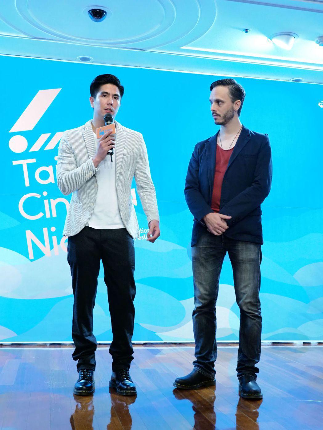 「血琥珀」導演李永超(左)、配樂福多瑪。圖/國家電影中心提供