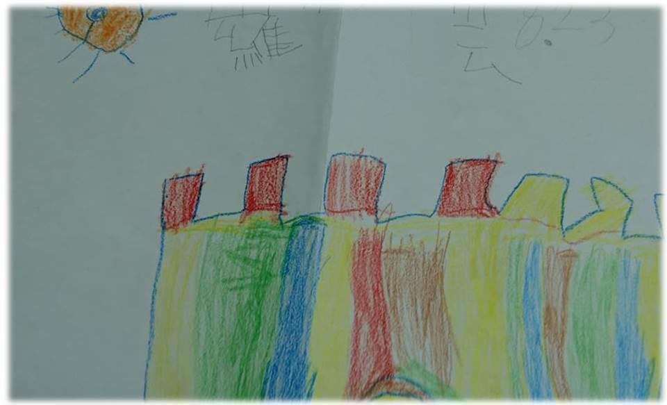小雲最後一堂課的作品。 圖/發展遲緩兒童基金會提供