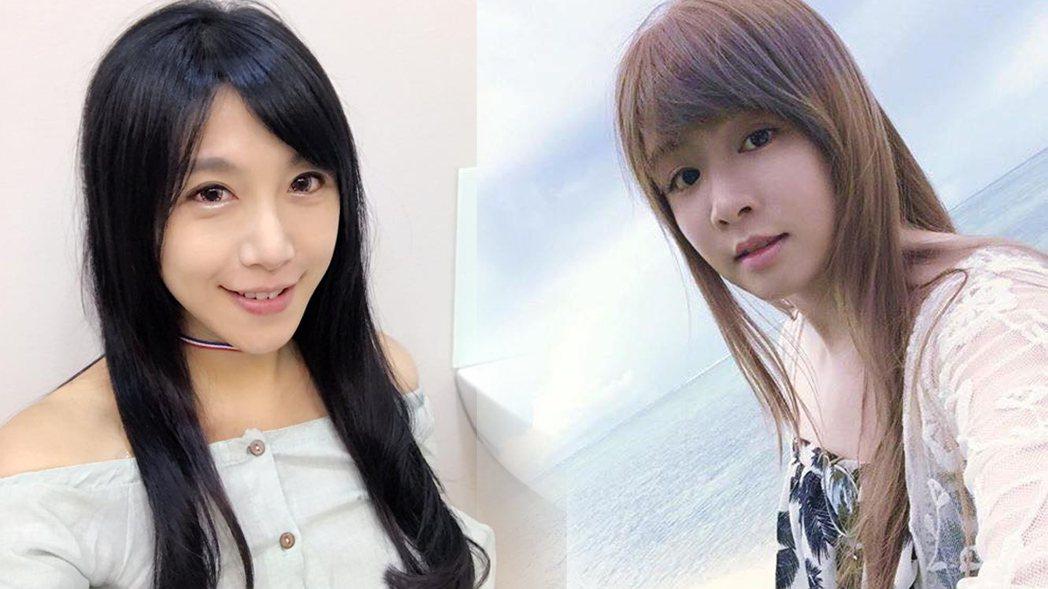 雙胞胎依依佩佩的妹妹佩佩(左),日前當媽後常常在臉書分享育兒心得。 圖/擷自臉書