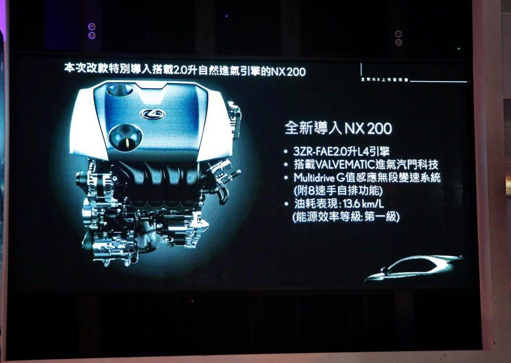 導入全新NX200車型,搭載2.0升自然進氣引擎。 記者陳威任/攝影