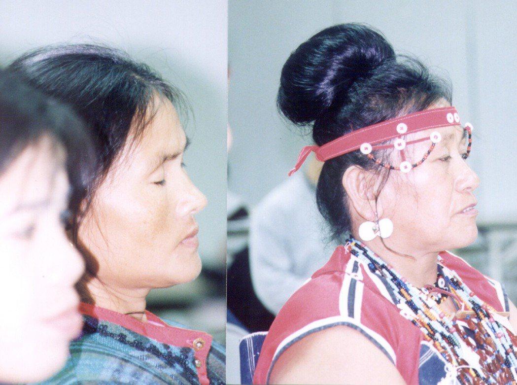 自菲律賓巴丹島嫁到蘭嶼的巴丹島女子麗妲(左),與蘭嶼的雅美族婦人(右)同樣的膚色...