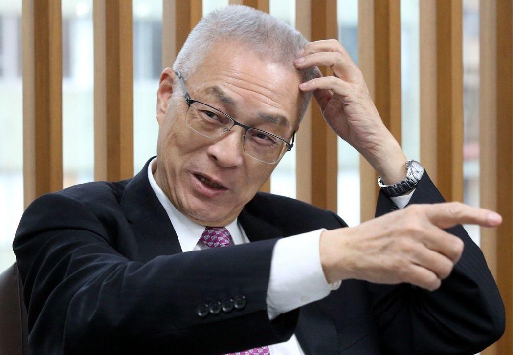 國民黨主席吳敦義。記者林俊良/攝影