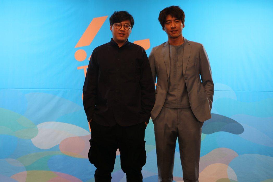 「最後的詩句」導演曾英庭、男主角傅孟柏。圖/國家電影中心提供