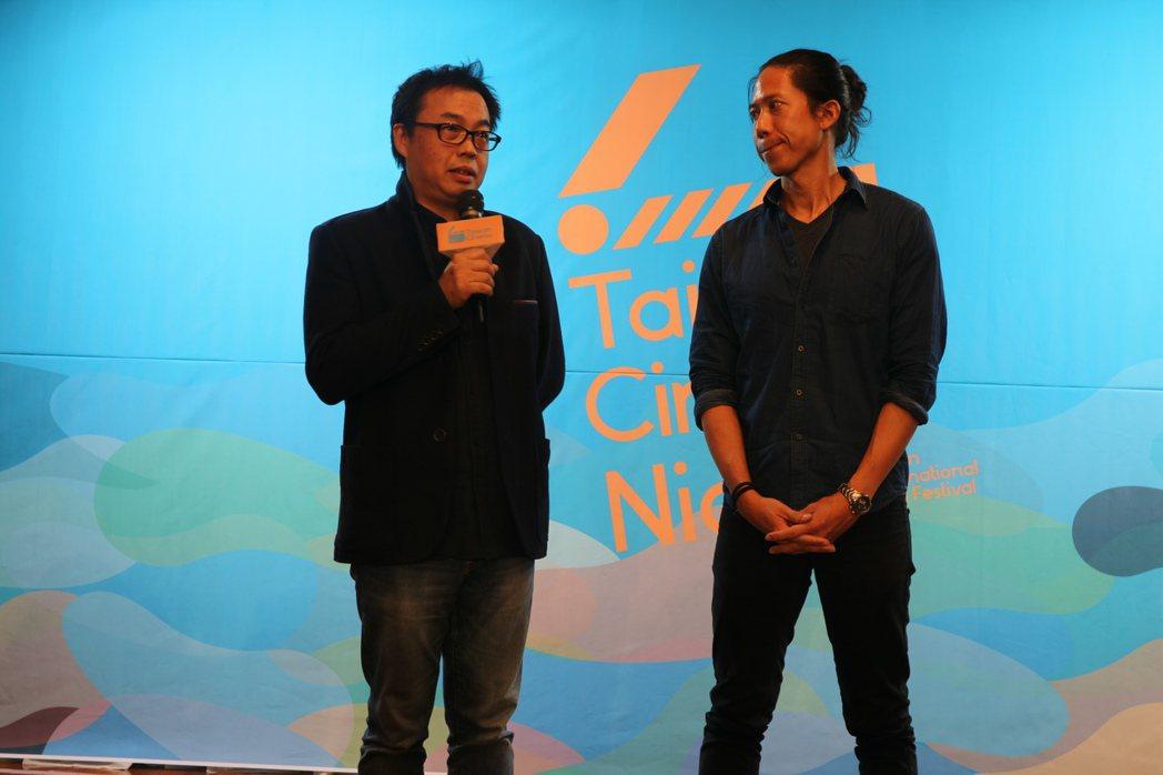 「回聲」導演錢翔(左)、製作協調李俊逸。圖/國家電影中心提供