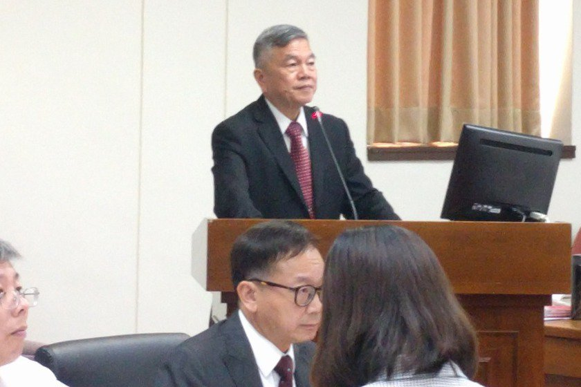 經濟部長沈榮津今天至立法院經濟委員會專案報告。記者張為竣/攝影
