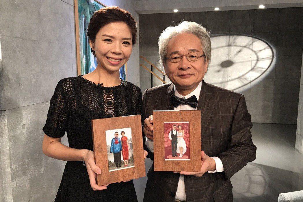 立委洪慈庸(左)上馮光遠新節目。圖/民視提供
