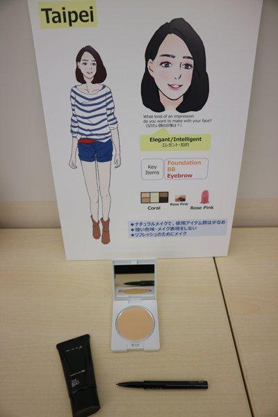 台北女性化妝常是為了轉換心情。 東京記者蔡佩芳/攝影