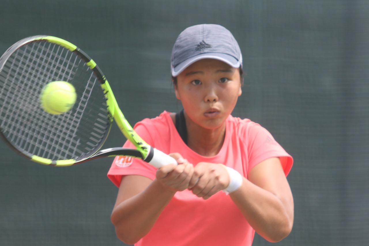 台灣網球16歲組小將李亞芯。 中央社