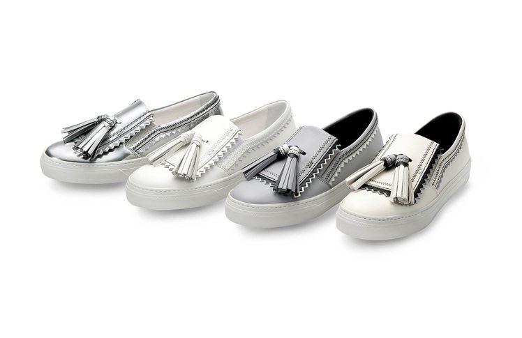 TOD'S以鋸齒狀飾邊與藝術格調賦予休閒板鞋的嶄新面貌。 圖/TOD'S 提...