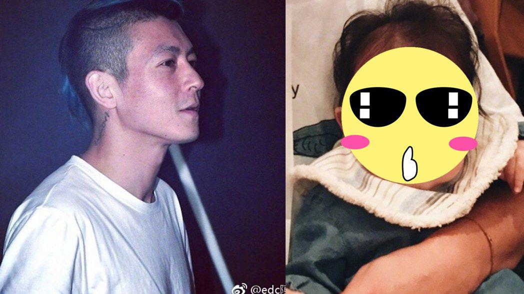 陳冠希自從當了爸爸之後,還經常曬出女兒ALAIA 的照片。 圖/擷自微博