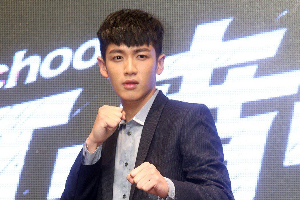 男主角柯震東2014年時出席電影「打噴嚏」台北記者會 。圖/聯合報系資料照