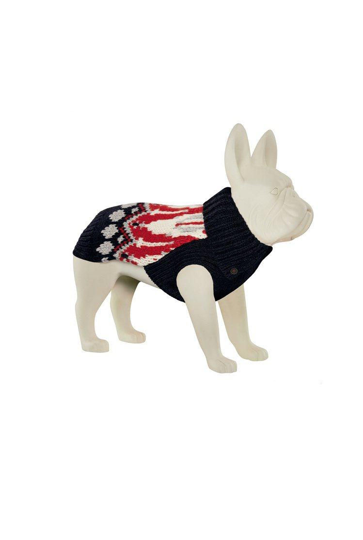 寵物犬特別系列挪威緹花針織衫,價格未定。圖/MONCLER提供