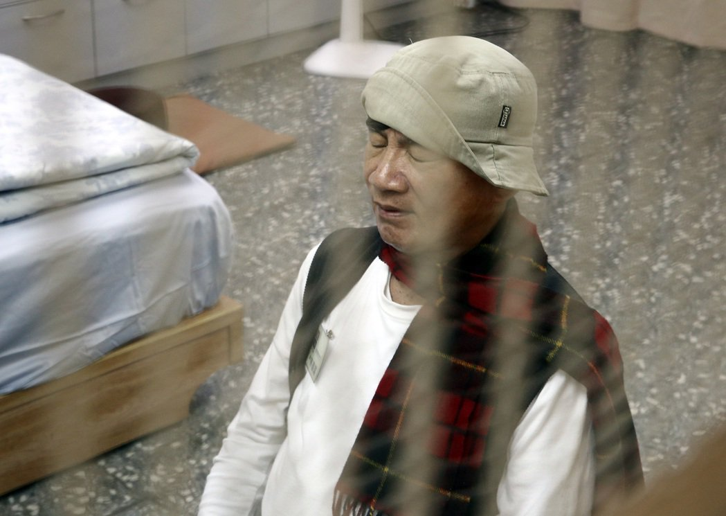 林義雄2014年在台北市義光教會禁食,力促核四停建。 本報資料照片