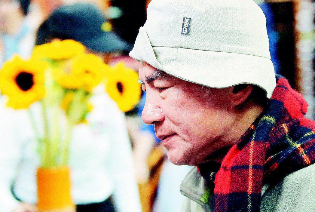 林義雄2014年反核四禁食第三天,神情略顯虛弱;他並發表公開信,呼籲「唯有先把公...