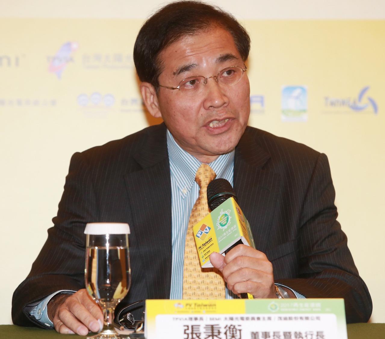 太陽能大廠茂迪宣布,董事長張秉衡辭職今日生效。報系資料照