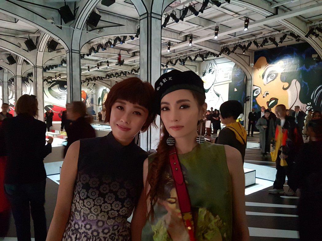 李維維赴米蘭時裝周朝聖,還遇到同齡「姐姐」謝金燕。圖/伊林提供