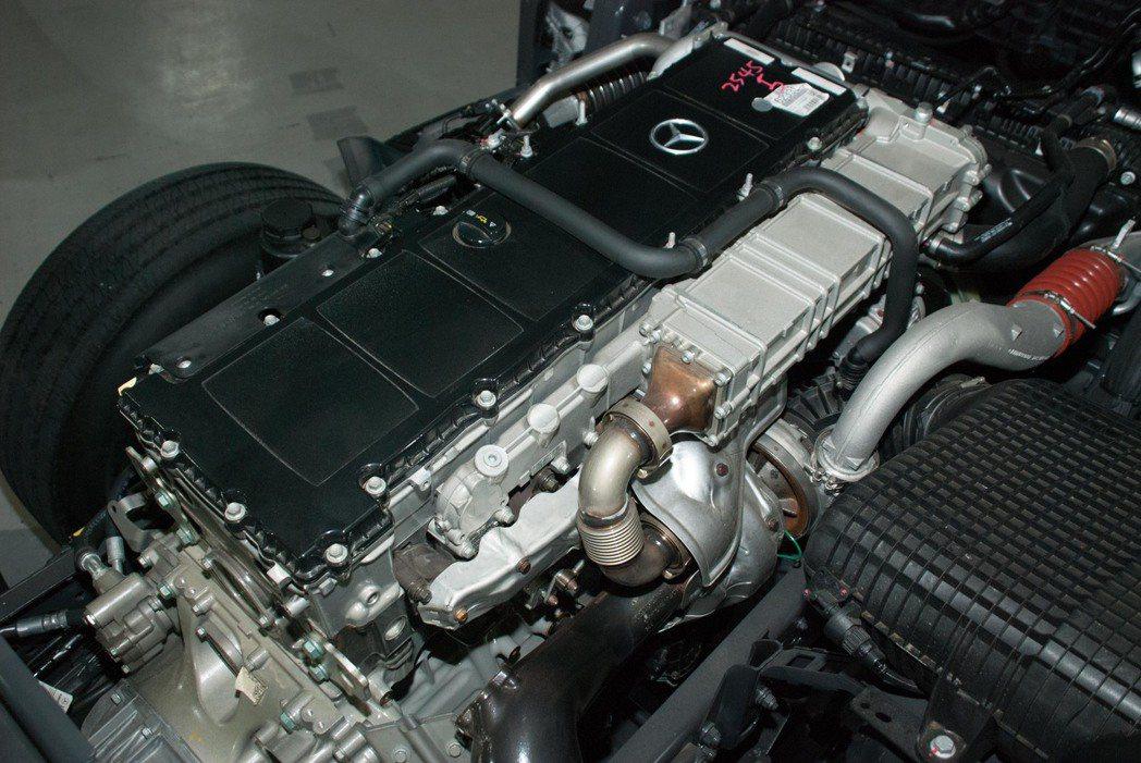 搭載一顆排氣量高達12.8升的直六柴油渦輪增壓引擎,並分為21hp/214kgm...