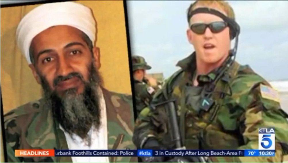 賓拉丹(左)與擊斃他的海豹隊員歐尼爾(右)。 圖/截自KTLA電視台畫面
