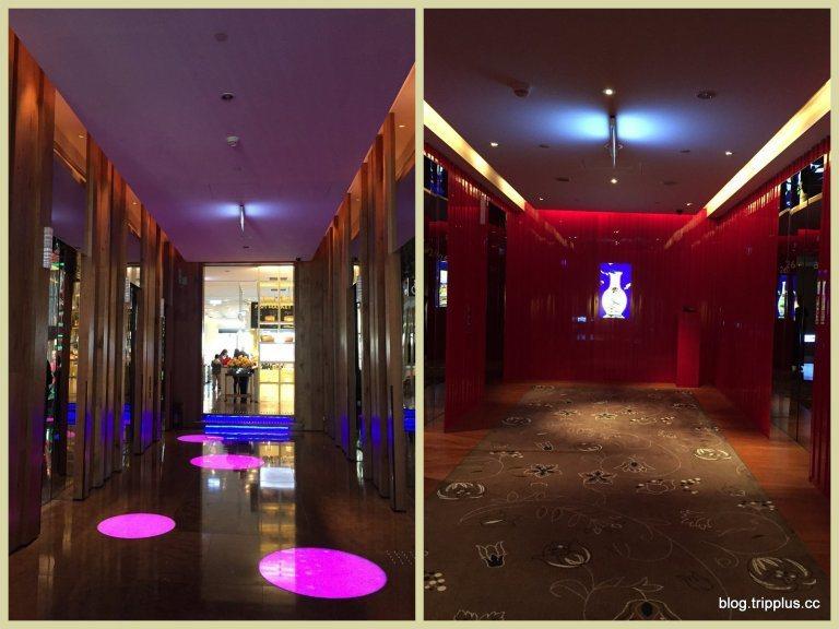 上到客房的是另一組的電梯,一到了客房樓層則是大紅色系非常搶眼。圖文來自於:Tri...
