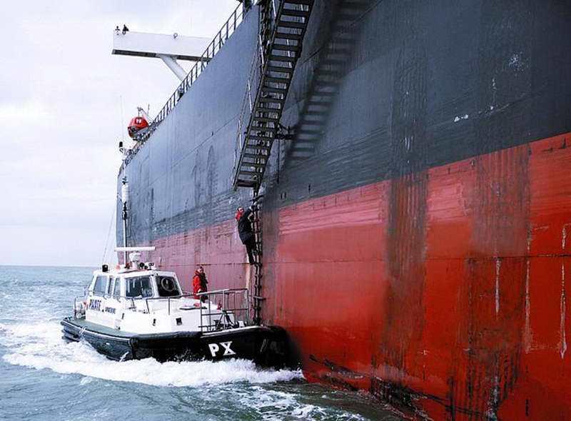 台灣沒有合格領港艇,都以一般交通艇代替。 翻攝自IMPA網站