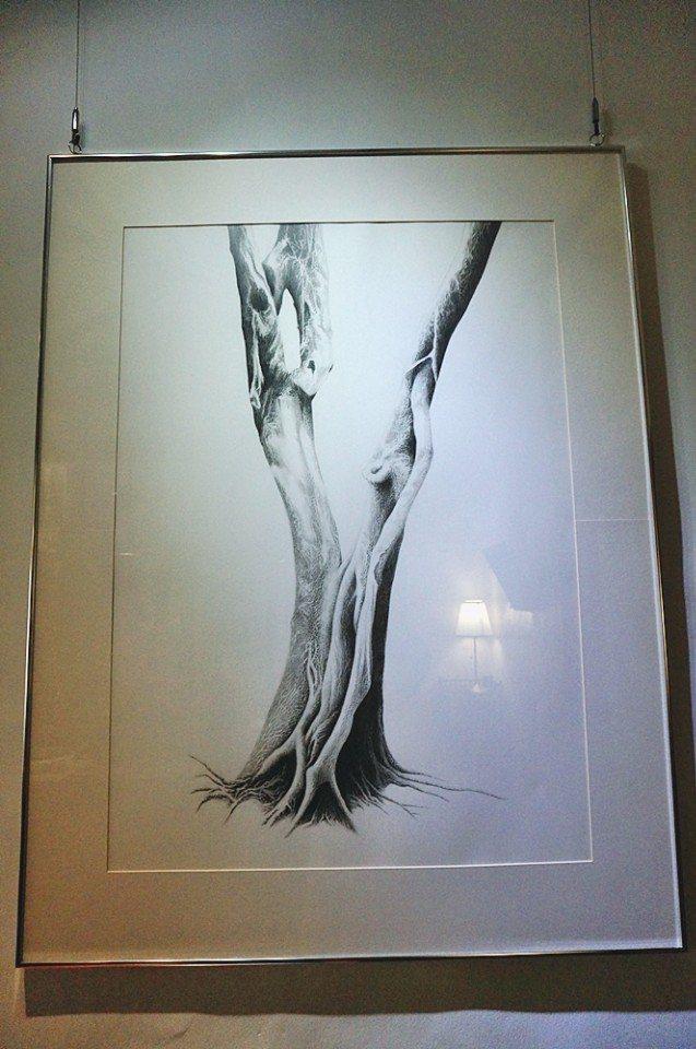 Toph的創作靈感多來自樹木。(攝影/林郁姍)