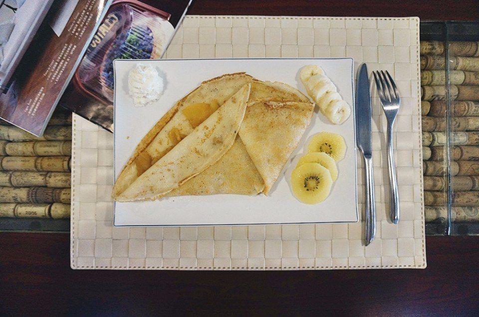 經典法式甜點,布列塔尼薄餅。(攝影/林郁姍)
