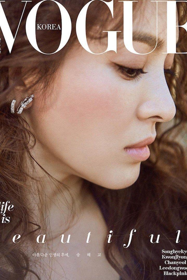 準新娘宋慧喬在婚前替雜誌拍攝封面。圖/摘自IG